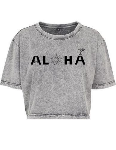 Produktbild Aloha Crop Shirt grau Aloha