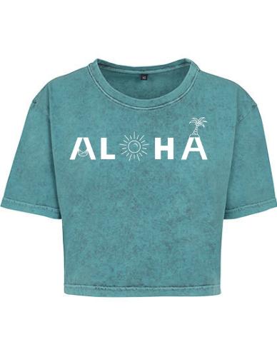 Produktbild Aloha Crop Shirt türkis Aloha