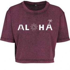 Produktbild Aloha Crop Shirt brodeaux Aloha