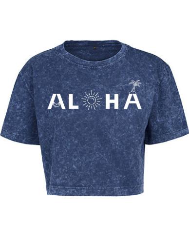 Produktbild Aloha Crop Shirt blau Aloha