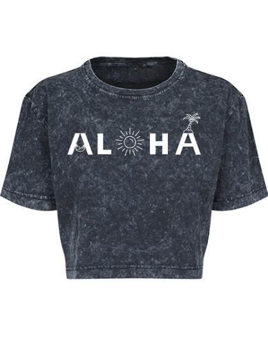 Produktbild Aloha Crop Shirt schawrz Aloha