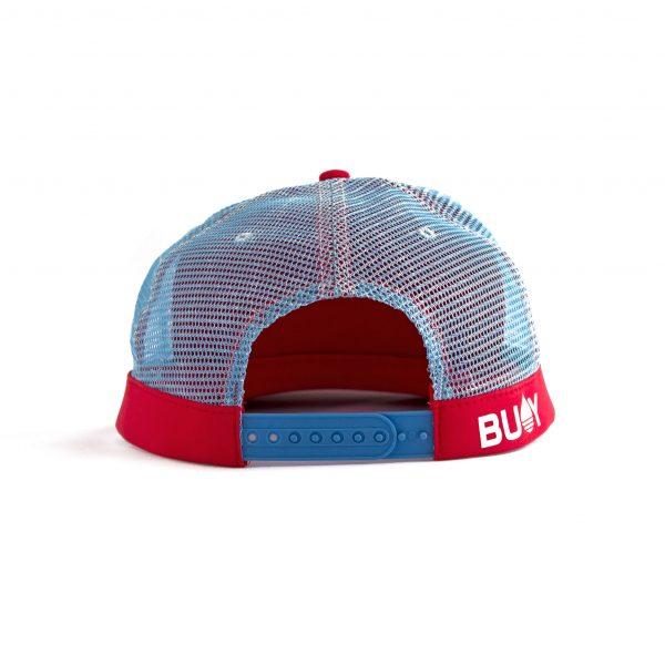 Produktbild BUOY WEAR rote schwimmende Cap mit Snapback - hinten