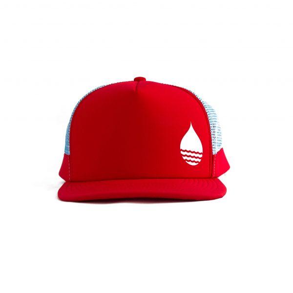 ProduktbildBUOY WEAR rote schwimmende Cap mit Snapback - vorne