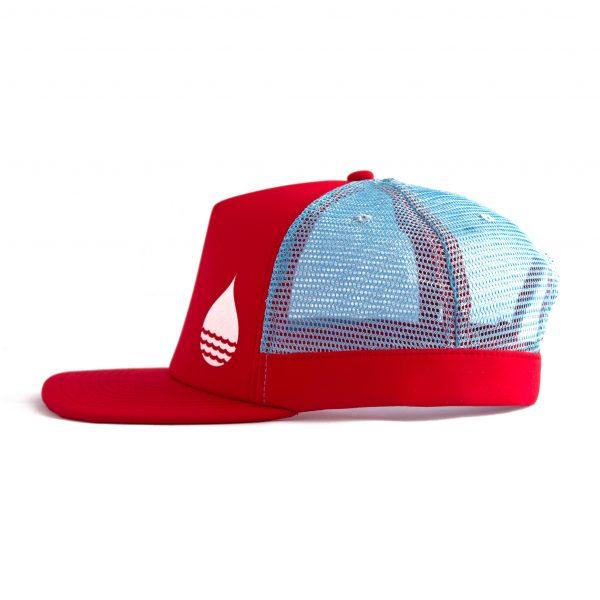 Produktbild BUOY WEAR rote schwimmende Cap mit Snapback - Seite